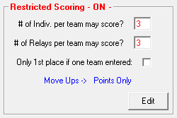TouchPad restricted scoring
