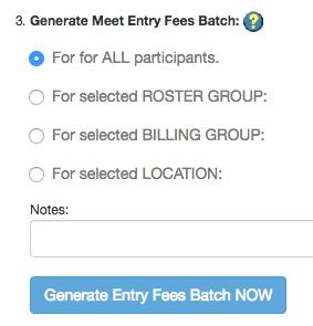 Generate Meet Fees step 3