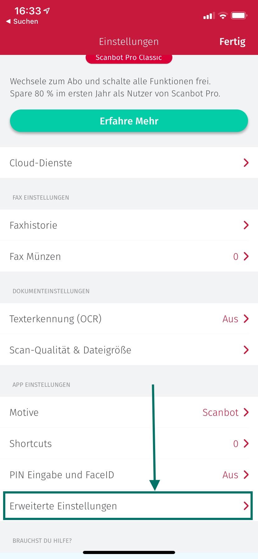 Einrichten der Scanbot App & erster Scan - solvi Knowledge Base