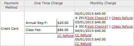 Transaction with refund links