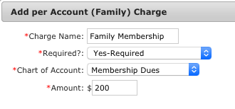 Add per Account (Family) Charge