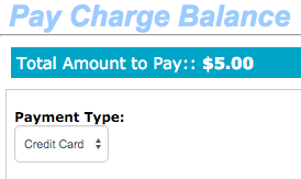 Pay Charge Balance