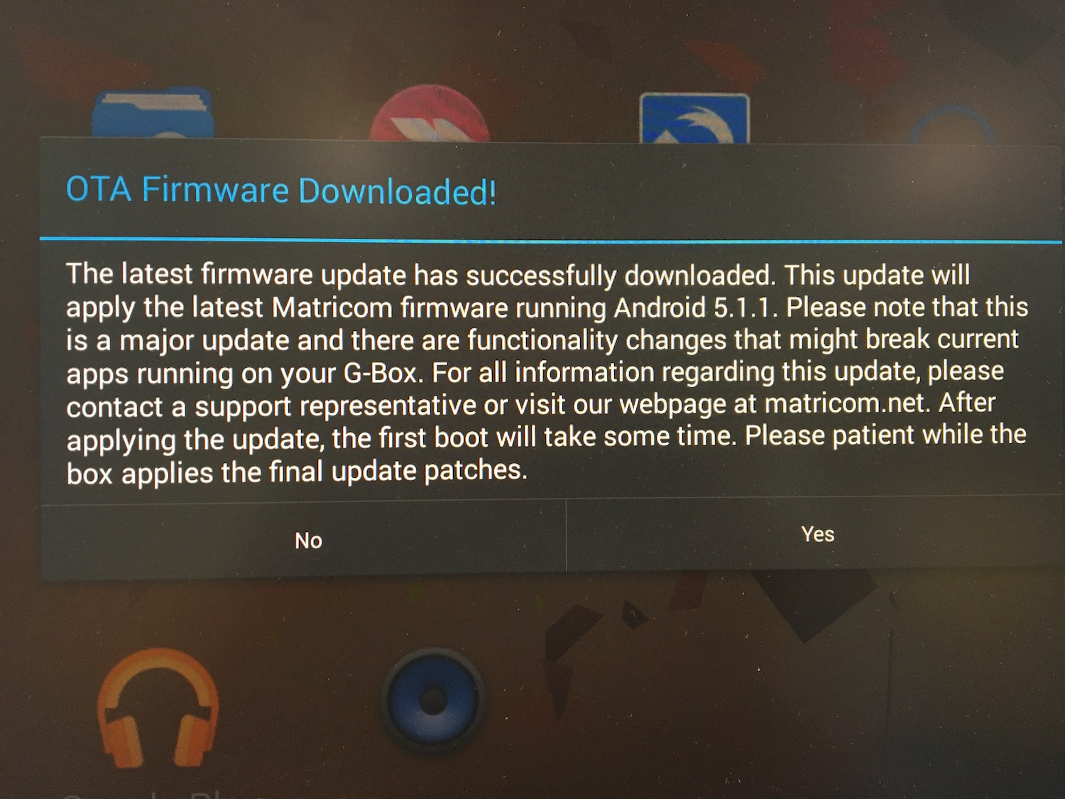 G-Box Version 2 0 Firmware / Android 5 1 1 Update - Clockwise MD