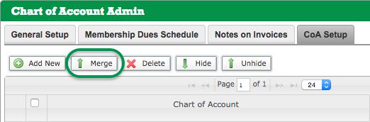 Chart of Account Admin